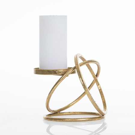 Design Republique Eleanor Gold Circle Candle Holder