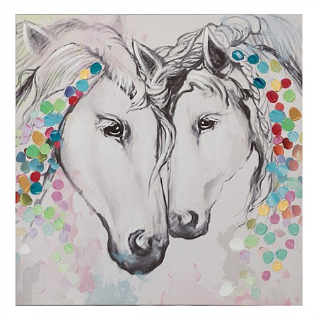 Solace Two Horses Wall Art