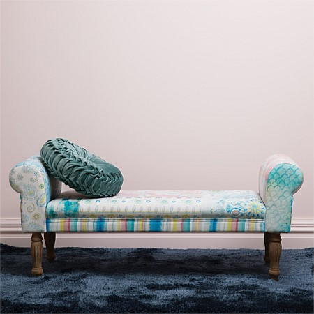 Design Republique Paisley Floral Patchwork Bench