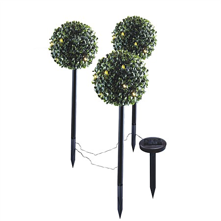 bb&b Garden 3pk Topiary Solar Lights