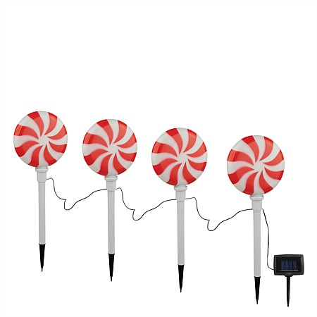 bb&b Garden 4pk Candy Stick Solar Lights