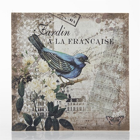 Flourish Chicadee Blue Bird Wall Art