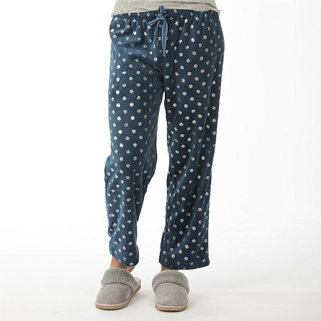 bb&b Sleep Metallic Spot Fleece Pants